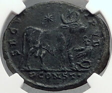 JULIAN II 360AD Bull TAURUS ZODIAC Large Authentic Ancient Roman Coin NGC i60259