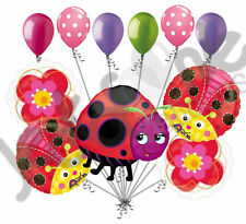 11 pc Miss Lady Bug Balloon Bouquet Party Decoration Birthday Baby Shower Flower