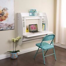 Prepac WEHW-0200-1 White Floating Desk with Storage