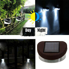 New 2LED Solar Fence Porch Wall Path Lamp White Light for Outdoor Garden Yard AP
