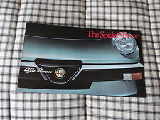 1983 Alfa Romeo Spider original sales brochure  & Post card NOS OEM