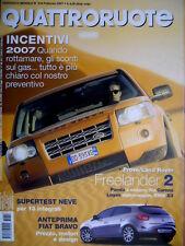 Quattroruote 616 2007 Fiat Bravo, prezzi, motore e design. Prove Panda  [Q.34]