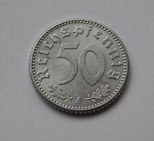 DRITTES REICH: 50 Reichspfennig 1940 A, J. 372, prägefrisch