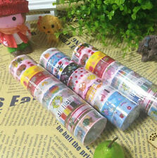 New Cute Cartoon 50pcs/lot Deco Scrapbooking Mixed Washi Adhesive Tape Stickers