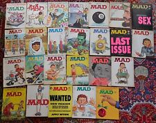Vintage Lot of 33 MAD MAGAZINES 1960's - Follies, Worst From, More Trash, SIGNS