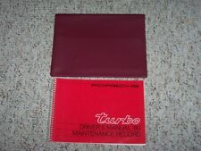 1980 Porsche 911 Turbo Owner's Owner Driver Manual User Guide w/ Case 930 3.3L