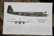 Me-262 & Ar-234 Print, signed by the Pilots & Franz Stigler!