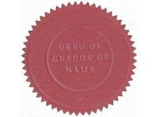 Prestige Deed Poll - Adult or Child - Change of Name - Legal Embossed Wafer Seal