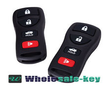 2 New Black Replacement 4 Button Keyless Entry Remote Control Key Fob FITS:NISSA