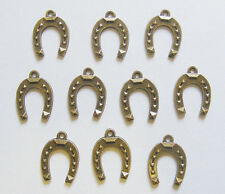 10 Large Metal Antique Bronze Colour Horseshoe Charms - 22mm x 16mm