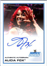 WWE Alicia Fox 2013 Topps Triple Threat Authentic Autograph Card SmackDown Diva
