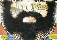 A Team Mr T Style Bling Moustache & Beard Set Fancy Dress Accessory P6267