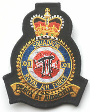 RAF No.22 Squadron Official Crest Royal Air Force Embroidered Patch