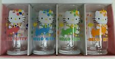 2013 Mermaid Hello Kitty Sanrio Cooler Drinking Glasses 4 Pack New In Box