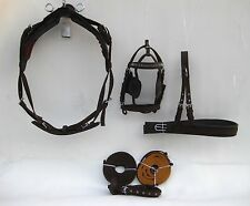Horse Driving Harness nylon materia for single horse in full size in brown color