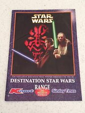 STAR WARS PHANTOM MENANCE KMART AUSTRALIA SUNDAY TIMES PROMOTIONAL POSTER