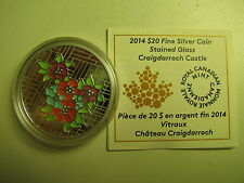 2014 Proof $20 Stained Glass #1-Craigdarroch Castle Canada COIN&COA ONLY .9999 s