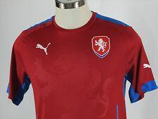 PUMA Men Czech Home Football Soccer Jersey Shirt Red Size M Medium NWOT