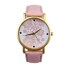 Nuevo Colección De Mujer Reloj Piel Artificial Analogico Quartz Pulsera