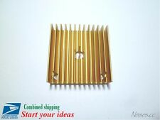 MK7 MK8 Extruder Heat Sink 40*40*11 Golden Metal 3D Printer Makerbot Prusa i3