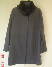 NWT JONES NEW YORK GRAY WOOL WALKING COAT SIZE 0X 18 20 $280