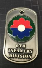 9th Infantry Division Dog Tag Engravable  US ARMY Challenge Coin 50mm