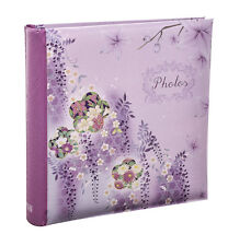 Arpan Large 6x4'' Floral Leaf Slip In Memo Photo Album for 200 Photos - CL-CP200