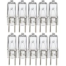 "[10 Pack] 20 Watt 120 Volt Halogen Light Bulbs G8 Long 1.75"" Length Base Bi-Pin"
