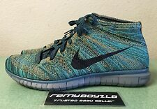 Nike Free Flyknit Chukka Mineral Teal Multi Color Mens Sz 13 Lunar Racer NEW!!!