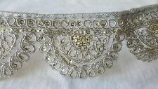 5cm- 1 meter Beautiful silver and gold sequins embroidered lace trimming DIY