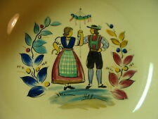 vintage Edwin M. Knowles China co. Union Made in USA 38-3 hand painted  couple