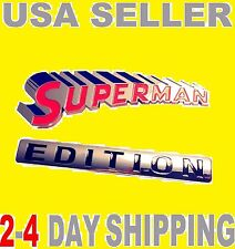 SUPERMAN EDITION EMBLEM 3D Car Truck Old OPEL AMC PEERLESS Logo Decal SIGN Badge