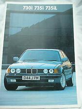 BMW 730i, 735i & 735iL brochure 1986 ed 2