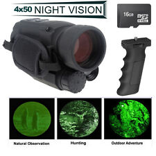 Night Vision Goggles Monocular Security Camera IR Tracker Trail Gen 2+16GB+Grip