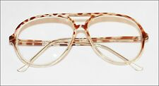 """BRAD"" Classic Large Man Reading Glasses Retro Academic Snake Spot Frame +3.00"