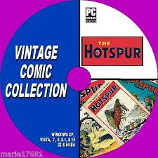 MASSIVE COLLECTION OF 120 + UK VINTAGE HOTSPUR COMICS 30s 40s ISSUES NEW PC DVD