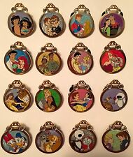 Disney Pin Mystery Couples Ring Full Set of 16 Reveal Conceal Ariel Carl Ellie +