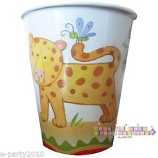 JUNGLE ANIMALS World Safari 9oz PAPER CUPS (8) ~ Birthday Party Supplies Drink