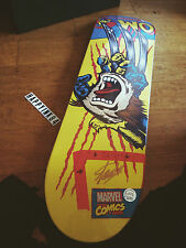 MARVEL Santa Cruz Skate Board Deck/ WOLVERINE/ SIGNED by STAN LEE/ COMICS/NEW
