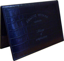 Authentic Franck Muller Black Leather Wallet Warranty Certificate Holder