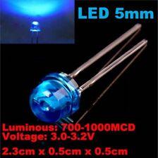 LED bleu 5 mm diode 3,0-3,2 V Blue LED 2,3 x 0,5x 0,5cm, NEUF, NEW.