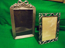 SET OF TWO METALLIC VINE, FLOWER & BOW PICTURE FRAMES....SO DECORATIVE