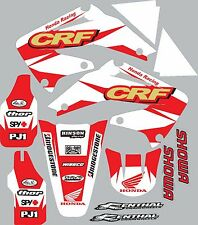 2004-2009 Honda CRF250 CRF 250 shrouds fender plastic Graphics Decal Stickers