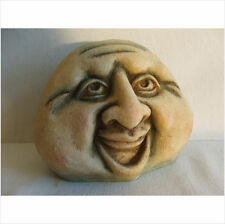 HAPPY MAN ROCK FACE GARDEN ORNAMENT.LATEX MOULD/MOULDS/MOLD