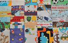 "I Spy Novelty Boy Fabric 5"" Squares Charm Pack, 30 different pieces, 100% cotton"