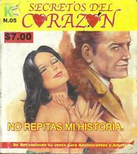 """SECRETOS DEL CORAZON"" mexican comic DRAMA, CRUDE HISTORIES #5"