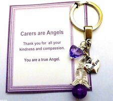 Thank you Gift Carer, Nursing Home, Midwife, Other Guardian Angel Keyring