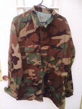 Military Issue Bdu Top Woodland Camo Size Medium/long
