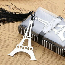 FD3384 Eiffel Tower Creative Exquisite Alloy Bookmarks With Ribbon Box Gift♫