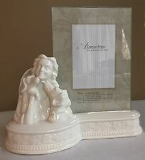 porcelain dog pet urn & frame